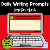 Daily September Writing Prompts