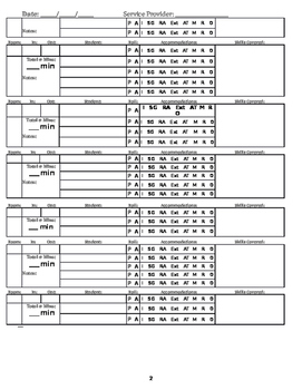 Daily Service Logs for Special Education
