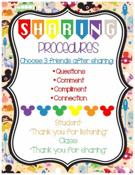 Daily Sharing Procedures Poster