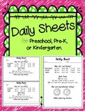 Daily Sheet - Behavior Note (Parent-Teacher Communication)
