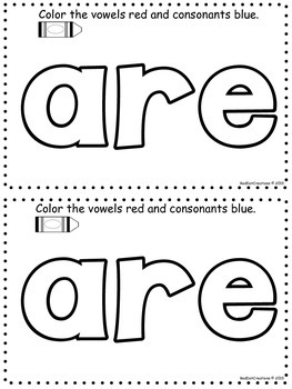 "Daily Sight Word Activity Book ""are"""