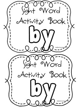 "Daily Sight Word Activity Book ""by"""