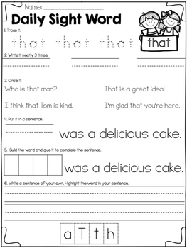 Daily Sight Word {Fry 1st 100}