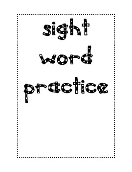 Daily Sight Word Practice