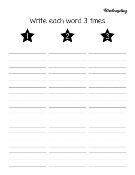 Daily Sight Word or Spelling Homework Sheets