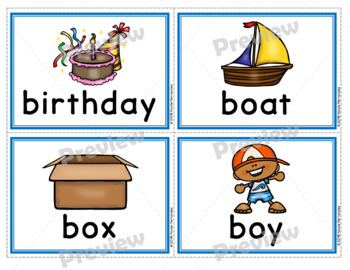Dolch Nouns Spelling Cards with Pictures