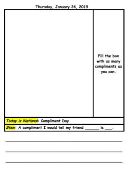 """Daily """"Silly National Holiday"""" Journal"""