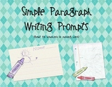 Daily Simple Paragraph Writing Prompts