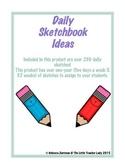 Daily Sketchbook Ideas