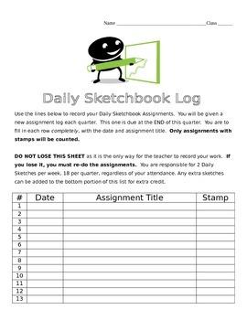 Daily Sketchbook Log