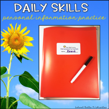 Daily Skills Folder-Personal Information Practice