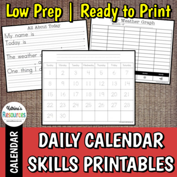 Daily Skills Practice: Calendar, Weather, and More!