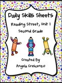 Daily Skills Sheets Unit 1 Reading Street Grade 2, 2011 & 2013 Series