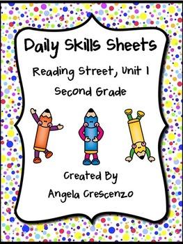 Daily Skills Sheets Unit 1 Reading Street Grade 2, 2011 &