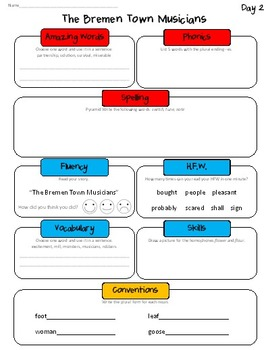 Daily Skills Sheets Unit 2 Reading Street Grade 2, 2011 & 2013 Series