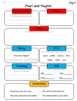 Daily Skills Sheets Unit 3 Reading Street Grade 2, 2011 & 2013 Series