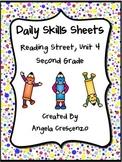Daily Skills Sheets Unit 4 Reading Street Grade 2, 2011 & 2013 Series