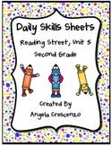 Daily Skills Sheets Unit 5 Reading Street Grade 2, 2011 & 2013 Series