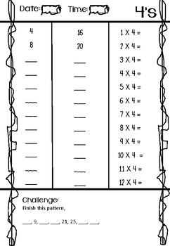 Daily Skip Counting Practise - Maths fluency for yr3 and 4 PRINT AND GO BOOK