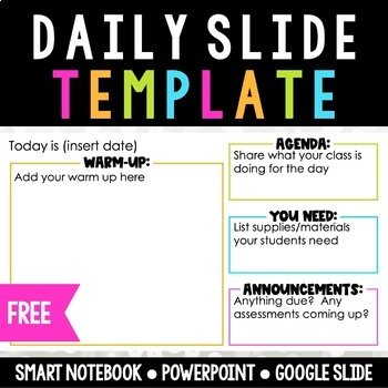Daily Slide Template FREE!