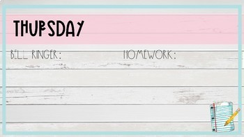 Daily Slides, Bell Ringer and Homework Slides
