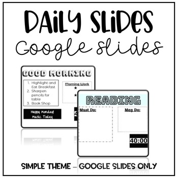 Daily Slides with Timers
