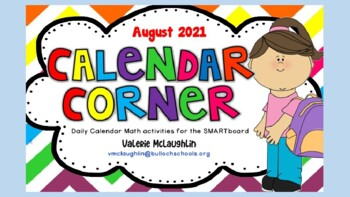 **REVISED for 2017** Daily SmartBoard  Number Corner for AUGUST - Common Core