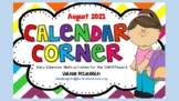 **REVISED for 2019** Daily SmartBoard  Number Corner for AUGUST - Common Core