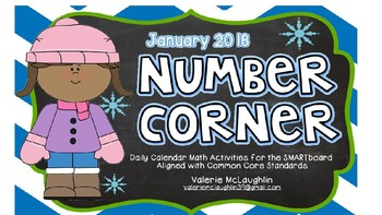 **REVISED** Daily SmartBoard Number Corner for January 2017 - Common Core