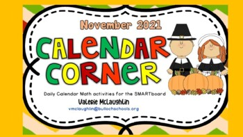 **REVISED** Daily SmartBoard Number Corner for November 20