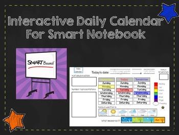 Interactive Daily SMARTBoard 2017-2018 Calendar