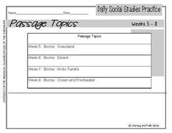 Daily Social Studies (Grade 2 October Weeks 5-8)