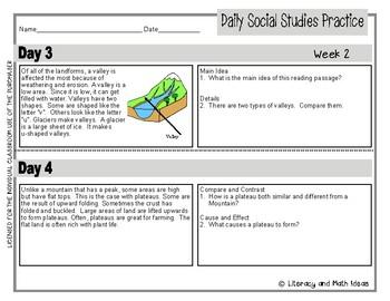 Daily Social Studies (Grade 3 Weeks 1-4)