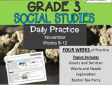 Daily Social Studies (Grade 3 Weeks 9-12)