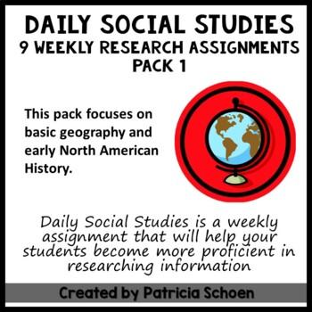 Daily Social Studies Pack 1
