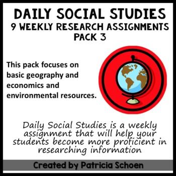 Daily Social Studies Pack 3