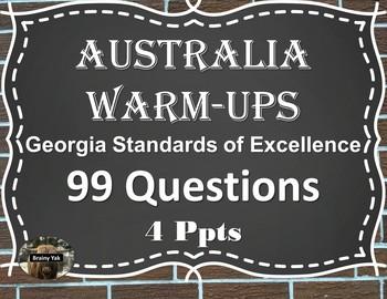 Daily Social Studies Warm-Ups Australia (Sixth Grade)