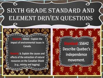 Daily Social Studies Warm-Ups Canada (Sixth Grade)