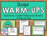 Daily Social Studies Warm-Ups -- Europe