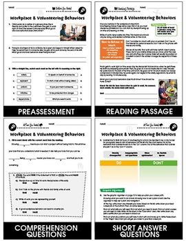 Daily Social & Workplace Skills: Workplace & Volunteering Behaviors Gr. 6-12