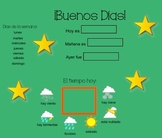 Daily Spanish Calendario - with weather and date