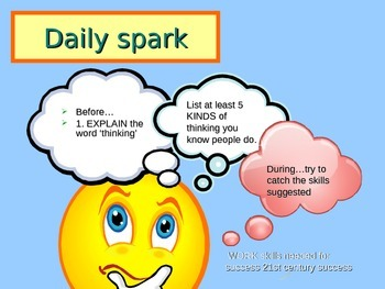 Daily Sparks...helping teens think and write about themselves and their futures.