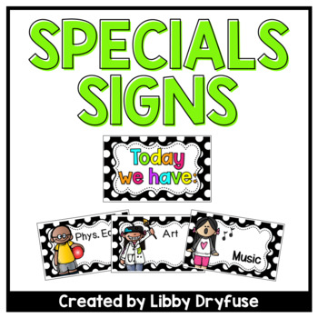 Daily Specials Signs {Black and White Polka Dot}
