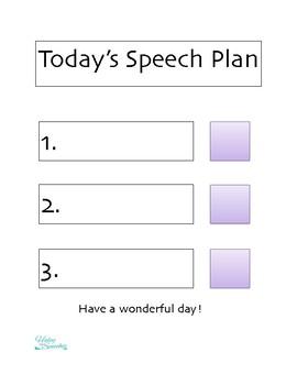 Daily Speech Schedule Visual