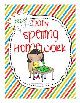Daily Spelling Homework