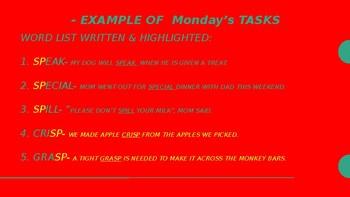 Daily Spelling Tasks