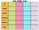 Daily Spelling Tasks Chart