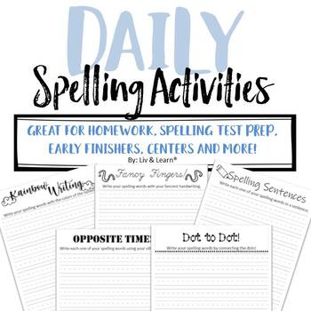 Daily Spelling Work