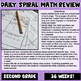 Daily Spiral Math Review {morning work, homework, bell rin