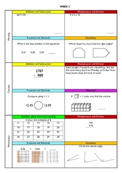 Daily Spiral Mathematics (Year 4)